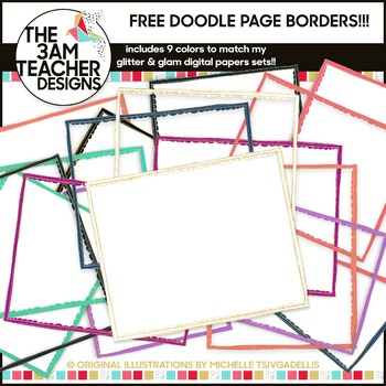 FREE Clip Art: Doodle Page Borders