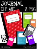 FREE Clip Art:  JOURNAL~ Notebook ~ Writing ~ Book ~ Clipart ~ FREEBIE