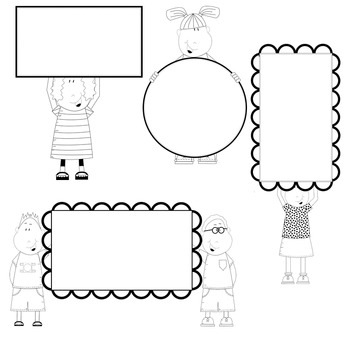 FREE Clip Art Kids with banners