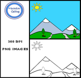 Clip Art - MOUNTAIN BACKGROUND
