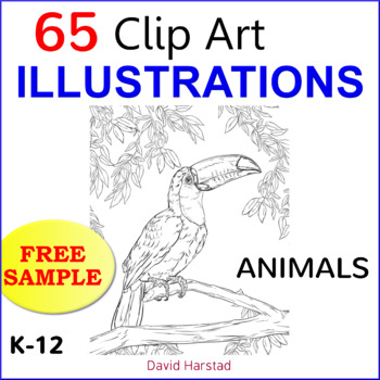 "FREE - Clip Art & Poster | Animals ""Peacock"" (K-8)"
