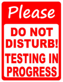 "FREE - Clip Art & Poster ""Do Not Disturb"" Test Prep Testing Sign"