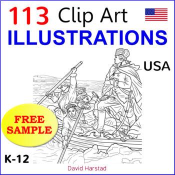 FREE - Clip Art & Poster - Classroom Decor   USA  Apollo 11 (K-8)