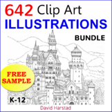 "FREE - Clip Art & Posters | 642 Illustrations | ""Modern City"" (K-12)"