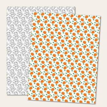 FREE Clip Art: Pumpkin Borders & Papers