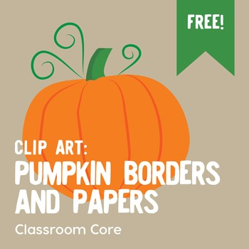 FREE Clip Art: Pumpkin Borders & Papers