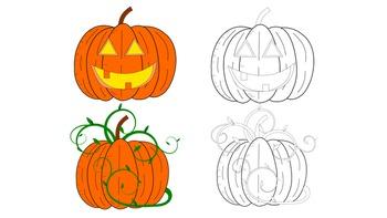 FREE Clip Art Pumpkins for Halloween