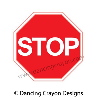 free clip art stop sign and go sign by dancing crayon
