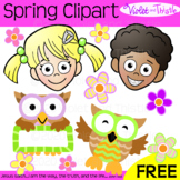 FREE Kids Clipart Clip Art Kids Spring Flowers Owls Freebie Freebee