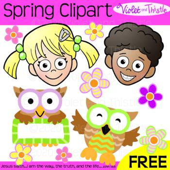 FREE Kids Clipart Free Clip Art Kids Freebie Spring Flowers Owls Freebie Freebee