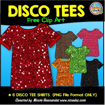 FREE Clip Art for Commercial Use -DISCO TEES ( T-Shirts)