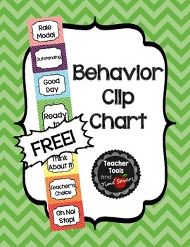 Behavior Clip Chart - Classroom Management - FREE! - Cute Chevrons