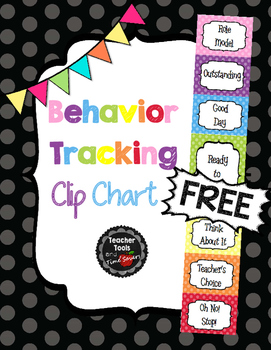Behavior clip chart classroom management free cute polka dots