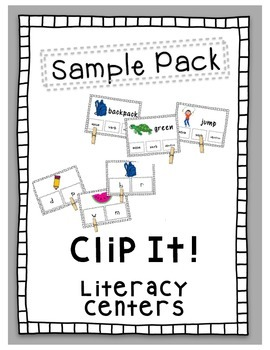 FREE Clip It! Literacy Center Sample Pack