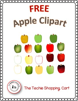 FREE Clipart - Apples (18 Varying Colors or Shades)