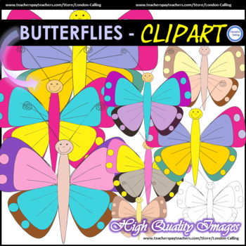 FREE Clipart - Butterflies for personal and commercial use