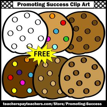 FREE Clipart, Cookie Clip Art, Chocolate Chip Cookies, Commercial Use SPS