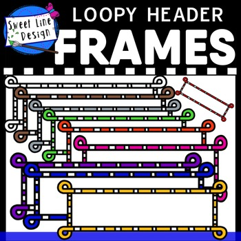 FREE - Clipart - Loopy Header Frames {Sweet Line Design}