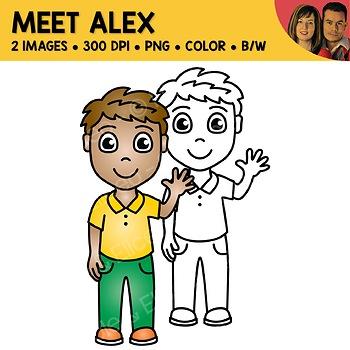 FREE Clipart - Meet Alex
