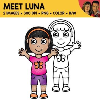 FREE Clipart - Meet Luna