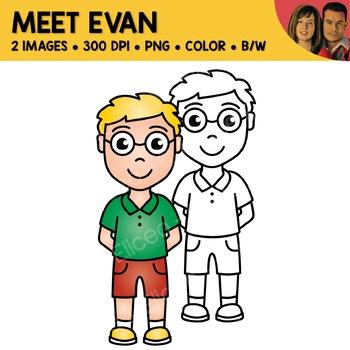 FREE Clipart - Meet Evan