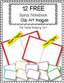 FREE Clipart - Spiral Notebooks      (Open Pages)