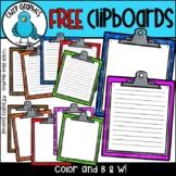 FREE Clipboard Clip Art Set - Chirp Graphics
