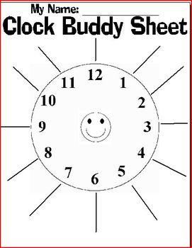 FREE: Clock Buddy Sheet