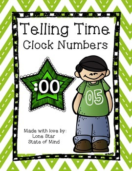 FREE Clock Helper!  Star themed telling time aid