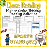 FREE Sports Stars (NZ) Close Reading Comprehension Text /