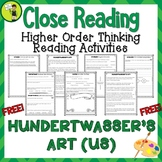 FREE Hundertwasser's Art Close Reading Comprehension Passages and Questions