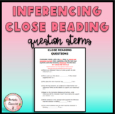 FREE Guided Reading Question Stems for Inferencing - RL.4.1. Printable NO PREP