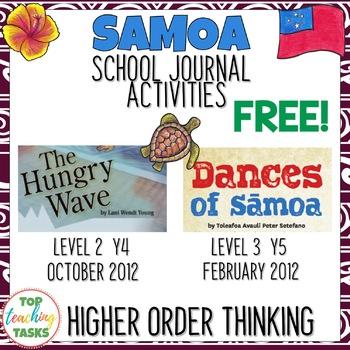 FREE Close Up Reading Comprehension Journal Activities - Sāmoa (NZ)