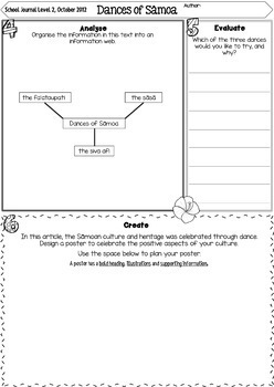 FREE Close Up Reading Comprehension Journal Activities Sāmoa NZ