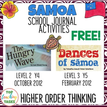 FREE Close Reading Comprehension Journal Activities Samoa NZ