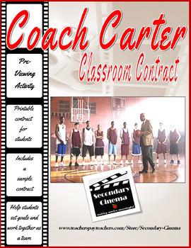 "FREE Coach Carter: ""Classroom Contract""--Set Goals & Work"