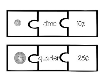 FREE Coin Identification Puzzles