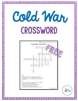 Cold War Crossword Puzzle {FREE}