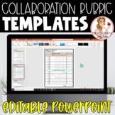 FREE Collaborative Learning Rubric Templates | Editable Po