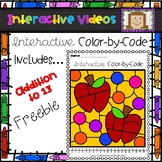FREE Color Code Interactive Video - Apple Addition Facts to 13