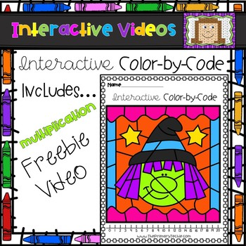 FREE Color Code Interactive Video - Witch Multiplication Facts