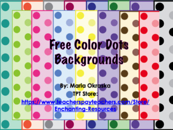 FREE Color Dots Backgrounds