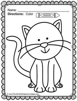 Cat Coloring Page Freebie