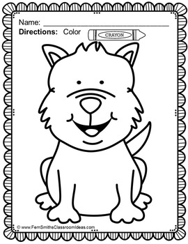 Dog Coloring Page Freebie