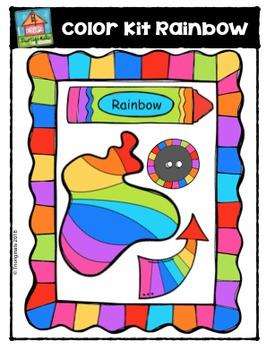 FREE Color Kit Rainbow (P4 Clips Trioriginals Digital Clip Art)