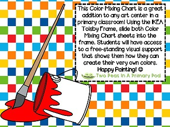 FREE Color Mixing  Chart