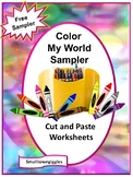 FREE-Color My World Sampler, Preschool, Autism, P-K,K, Special Education