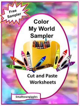 FREE-Color My World Sampler, Preschool, Autism, P-K,K, Special Education
