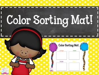 FREE Color Sorting Mat