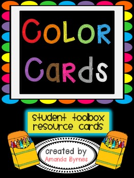 FREE Color Word Cards
